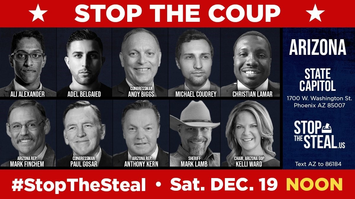 LIVE: Stop The Steal Arizona State Capitol Protest 12/19/20