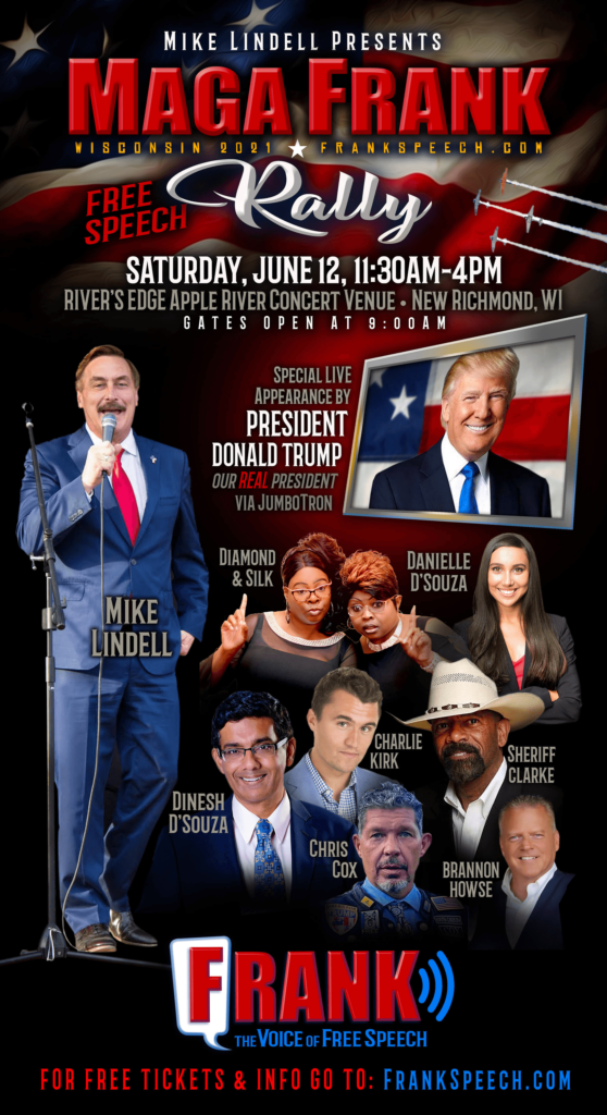 """Trump to Headline Mike Lindell's """"Free Speech"""" Rally in Wisconsin"""