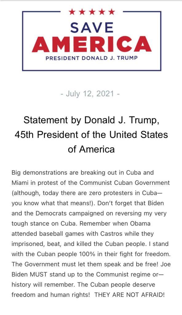 GOP Backs Cuban Protestors Calling For The End of Communist Dictatorship